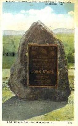 Gen. John Stark Memorial - Bennington, Vermont VT Postcard