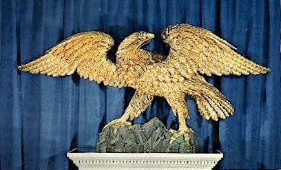 American Carved Pine Eagle - Bennington, Vermont VT Postcard
