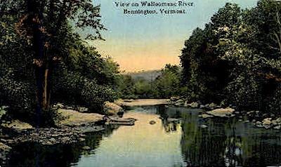 Walloomsac River - Bennington, Vermont VT Postcard