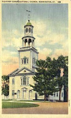 Old First Church - Bennington, Vermont VT Postcard