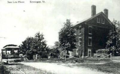 Reproduction -State Line House - Bennington, Vermont VT Postcard
