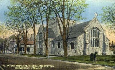 St. Peters Episcopal Church - Bennington, Vermont VT Postcard