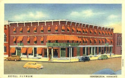 Hotel Putnam - Bennington, Vermont VT Postcard