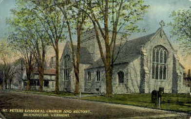 St. Peters Episcopal Church - Bennington, Vermont VT Postcard