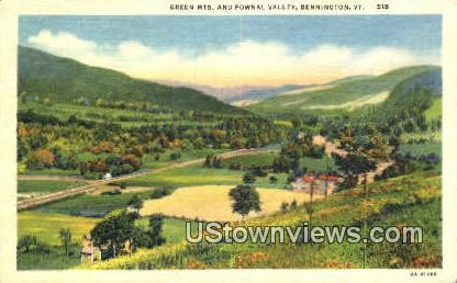 Green Mts - Bennington, Vermont VT Postcard