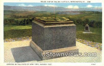 Relief Map of the Battlefield - Bennington, Vermont VT Postcard