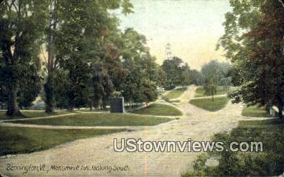 Monument Ave - Bennington, Vermont VT Postcard