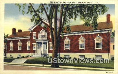 Bennington Free Library - Vermont VT Postcard