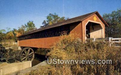 Covered Bridge - Bennington, Vermont VT Postcard
