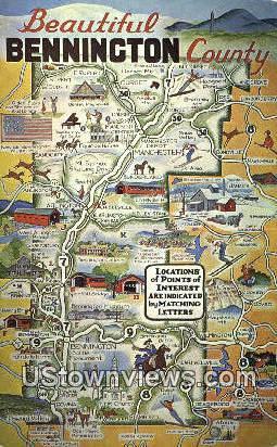 Bennington, Vermont      ;     Bennington, VT Postcard