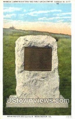Bennington Battlefield - Vermont VT Postcard