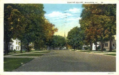 Conant Square - Brandon, Vermont VT Postcard
