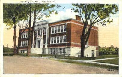 High School - Brandon, Vermont VT Postcard