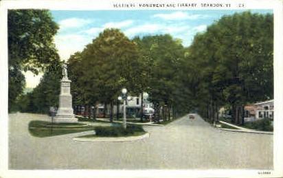Soldiers Monument - Brandon, Vermont VT Postcard