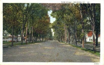 Park Street - Brandon, Vermont VT Postcard
