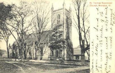 St. Thomas' Episcopal Church - Brandon, Vermont VT Postcard