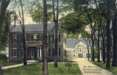 Mrs. G. W. Hooker Residence - Brattleboro, Vermont VT Postcard