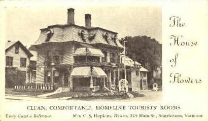 House of Flowers - Brattleboro, Vermont VT Postcard
