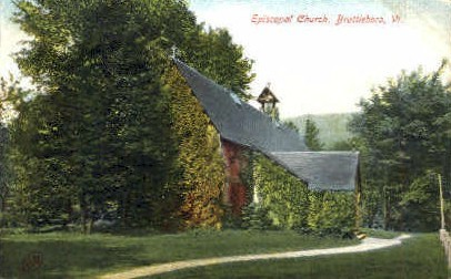 Episcopal Church - Brattleboro, Vermont VT Postcard