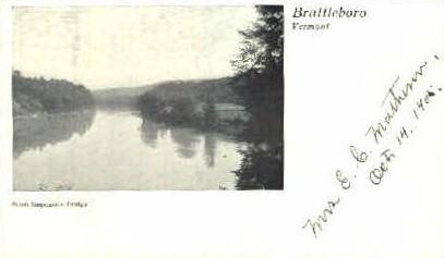 Suspension Bridge - Brattleboro, Vermont VT Postcard