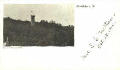 Retreat Park - Brattleboro, Vermont VT Postcard
