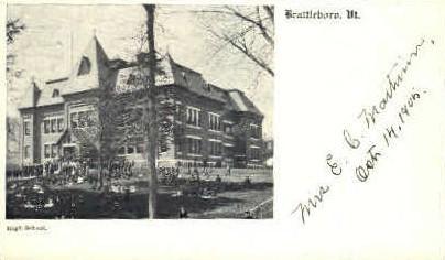 High School - Brattleboro, Vermont VT Postcard