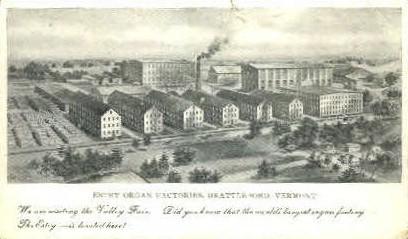 Estey Organ Factories - Brattleboro, Vermont VT Postcard