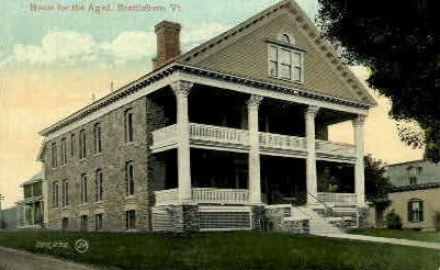 Home for the Aged - Brattleboro, Vermont VT Postcard