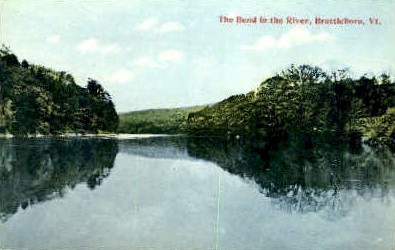 The Bend in the River - Brattleboro, Vermont VT Postcard