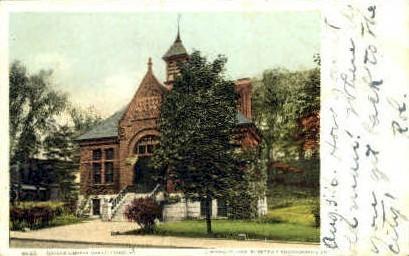 Brooks Library - Brattleboro, Vermont VT Postcard