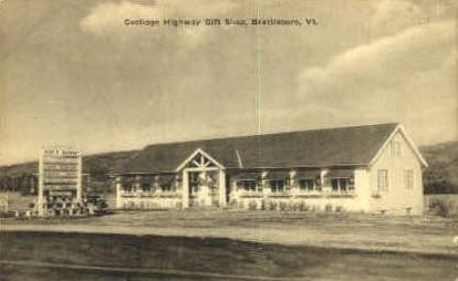 Coolidge Highway Gift Shop - Brattleboro, Vermont VT Postcard