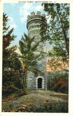 Retreat Tower - Brattleboro, Vermont VT Postcard