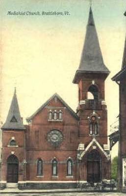Medothist Church - Brattleboro, Vermont VT Postcard