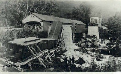 Reproduction -Railroad - Brattleboro, Vermont VT Postcard