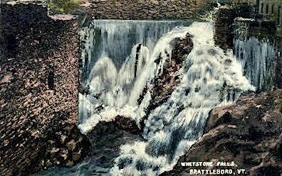 Whetstone Falls - Brattleboro, Vermont VT Postcard