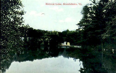 Retreat Lake - Brattleboro, Vermont VT Postcard