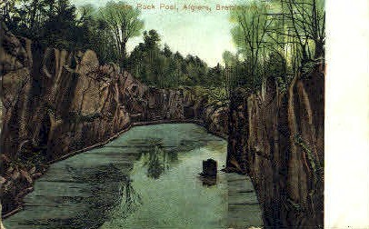 State Rock Pool - Brattleboro, Vermont VT Postcard