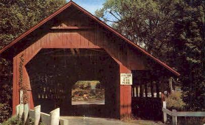 Covered Bridge - Brattleboro, Vermont VT Postcard