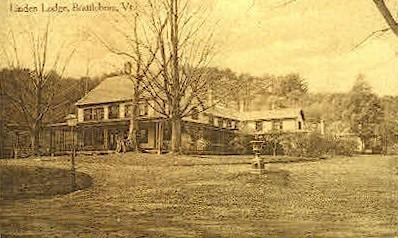 Linden Lodge - Brattleboro, Vermont VT Postcard