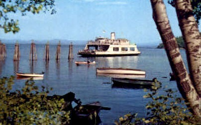 M. V. Adirondack Ferry - Burlington, Vermont VT Postcard