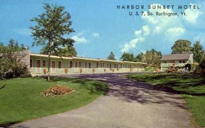 Harbor Sunset Motel - Burlington, Vermont VT Postcard