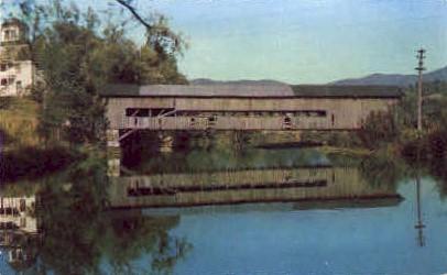 Covered Bridge - Burlington, Vermont VT Postcard