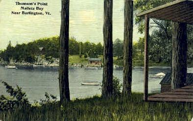 Malletts Bay - Burlington, Vermont VT Postcard