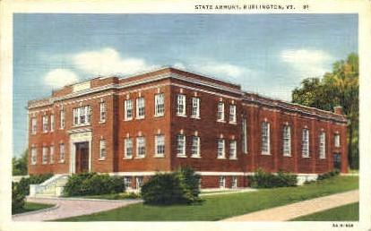 State Armory - Burlington, Vermont VT Postcard