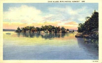 Cave Island - Burlington, Vermont VT Postcard