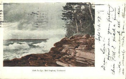 Oak Ledge - Burlington, Vermont VT Postcard