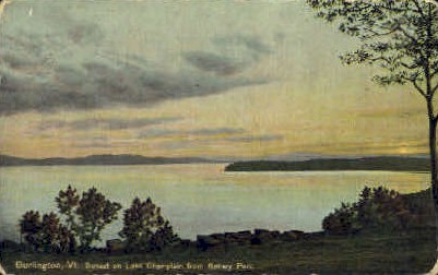 Lake Champlain - Burlington, Vermont VT Postcard