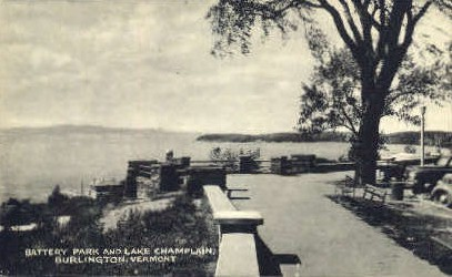 Battery Park - Burlington, Vermont VT Postcard
