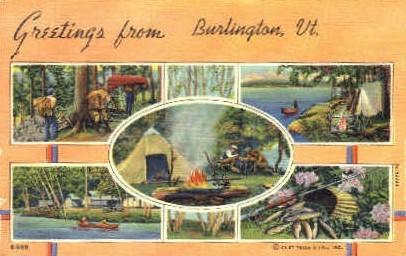 Misc - Burlington, Vermont VT Postcard