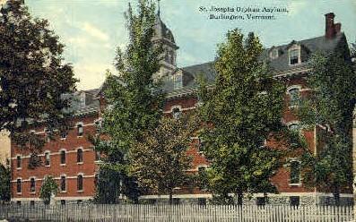 St. Josephs Orphan Asylum - Burlington, Vermont VT Postcard